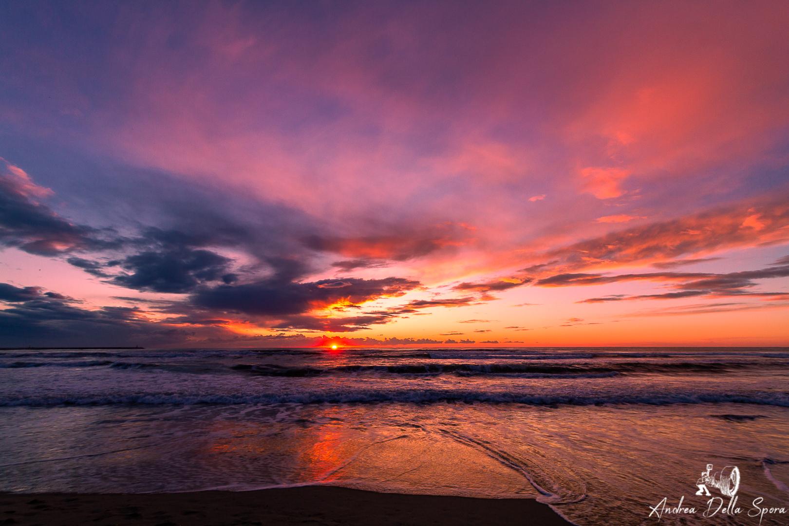 cieli immensi viareggio tramonto