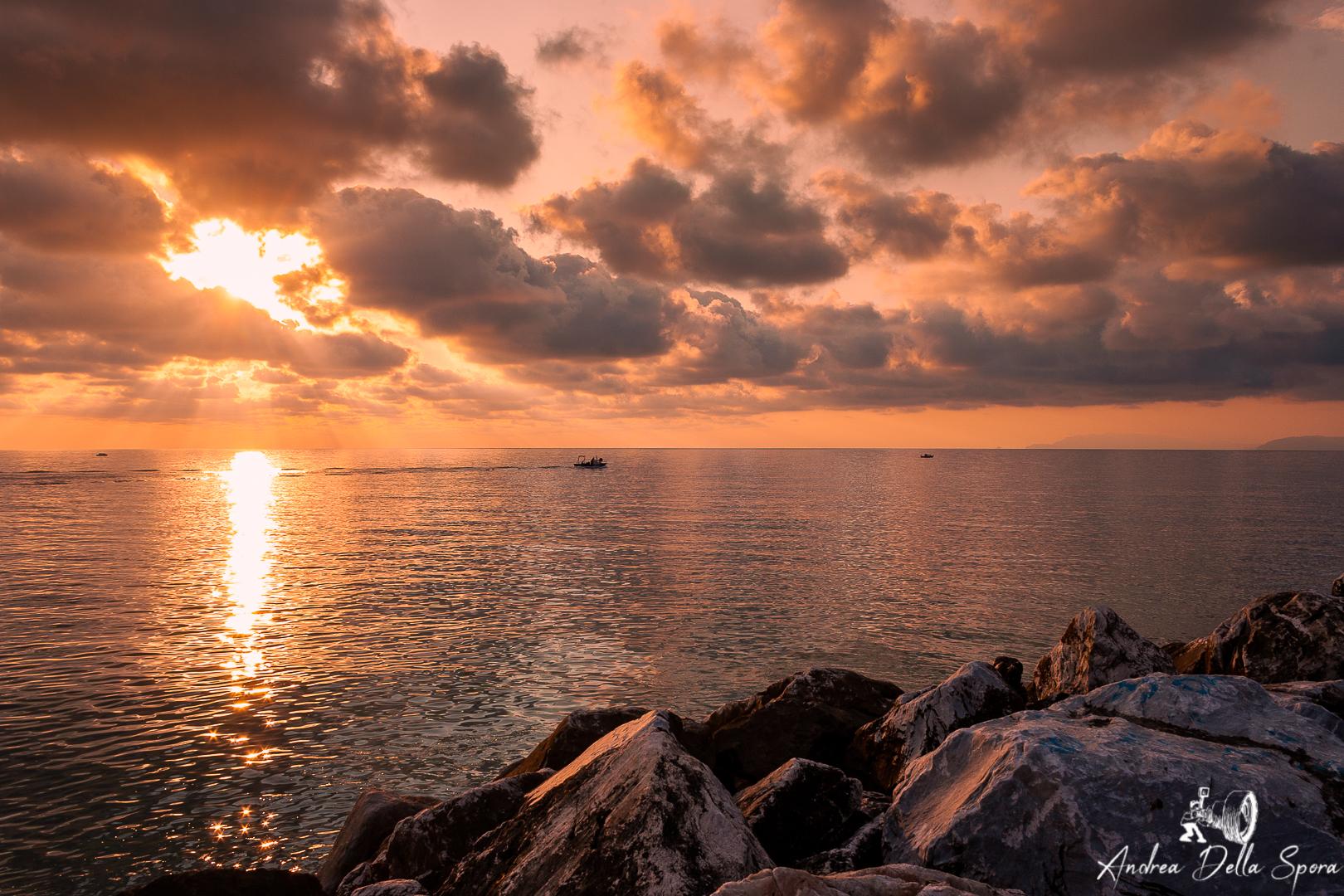 Tramonto sul mare - Viareggio